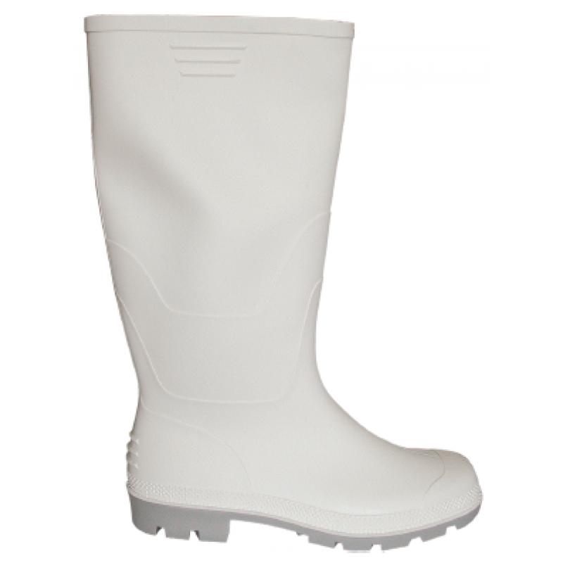 Γαλότσα γονάτου PVC λευκή 1a7c255fba6